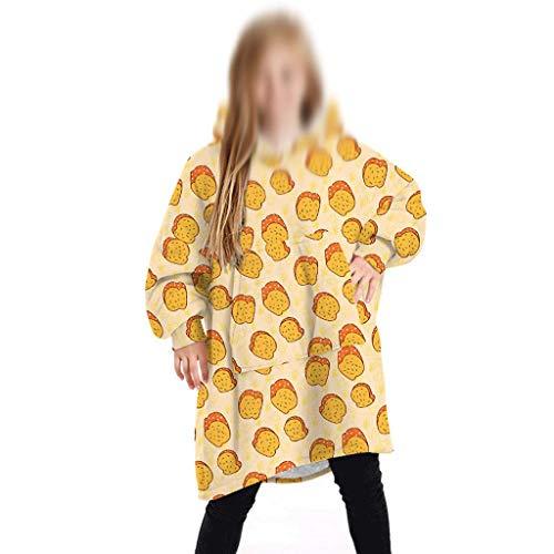 WWWEE Sudadera con Capucha for niños Sudadera con Capucha de Gran tamaño Sudadera Manta Abrigos Comfy Pullover Navidad Cálido