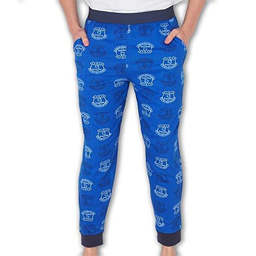 Everton FC Official Football Gift Mens Lounge Pants Pyjama Bottoms Blue Medium