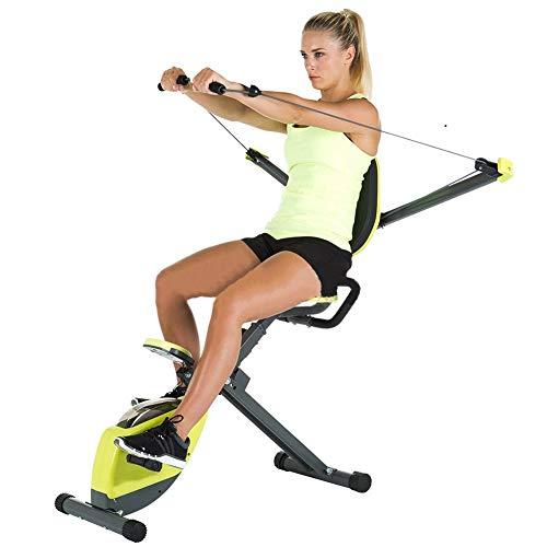 YRX Cubierta Máquina de Fitness, Mini Bicicleta estática magnética bajo con el Monitor LCD para la Pierna y el Brazo de recuperación para Hombres y Mujeres en el Ministerio del Interior y