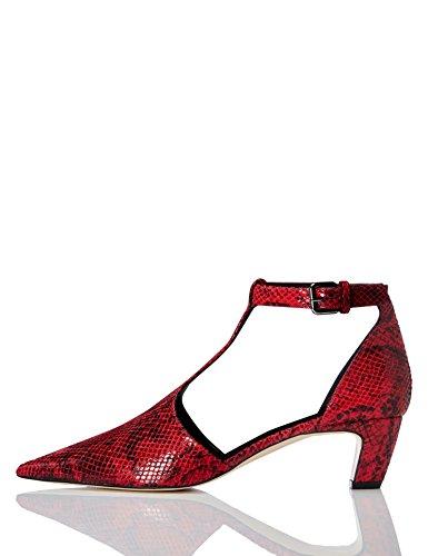 find. Zapatos T-bar de Tacón Mujer, Rojo (Red 007), 38 EU