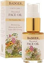Badger Unscented Face Oil - 1 oz Glass Bottle