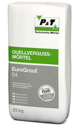 EuroGrout 04 Quellvergussmörtel 25 kg - Selbstnivellierende, früh abbindende Vergussmörtel mit hohen Festigkeiten