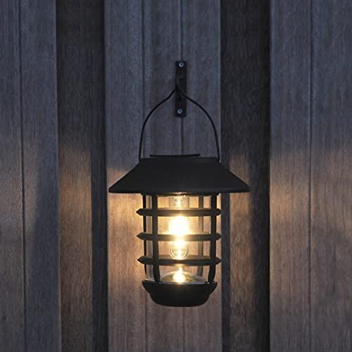 Gadgy Aplique Solar Exterior | Luz Led De Jardin | Lampara Con Sensor Día/Noche | Para Terraza, Valla, Balcón O El Camino De Entrada | Adecuada Como Luz De Pared Y Linterna | Impermeable