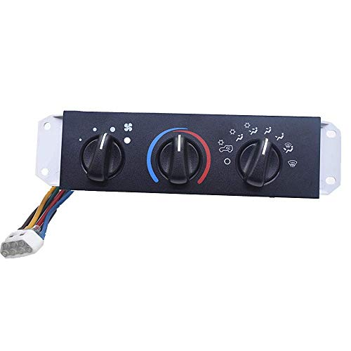 labwork HVAC AC A/C & Heater Control Panel with Blower Motor Switch 55037473AB for Jeep Wrangler TJ