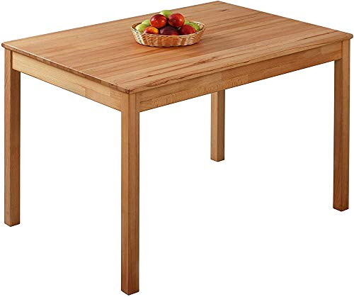 Comedor de madera maciza mesa de comedor mesa de haya aceite de duramen,70 x 50 x 75 cm