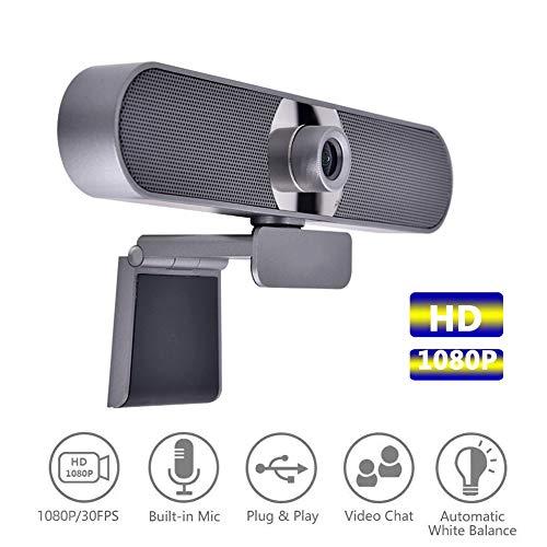 AZCSPFALB Full-HD 1080P USB-Anschluss Webkamera, LED Fülllicht Und Autofokus-Technologie, USB-Kamera Videoaufnahme, Live Broadcast Kamera, Mini Webcam, PC Laptop Desktop Webkamera