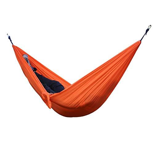 Hamaca De Camping Al Aire Libre Portátil De Tela De Nailon Multifunción Hamaca De Jardín Doble para Dormir con Mosquetón Y Cuerdas 42