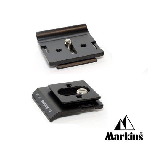 Markins Kameraplatte PG-50 für Nikon D600/D610 mit MB-D14, D7100, D800/E mit MB-D12, Canon EOS 5D MKIII mit BG-E11 & mehr