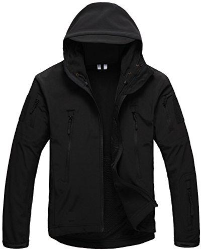 Kelmon, giacca da uomo con cappuccio, in tessuto softshell Black Small
