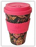 PAISLEY por Happy Earth (Taza de café ecológica reutilizable 450 ml, hecha con fibra de bambú natural orgánica, se puede utilizar como taza de viaje o taza de café casera)