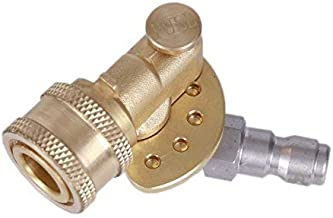 Tools Pro Quick Connecting Pivoting Coupler 120 Degree with 5 Angles and Safety Lock for Pressure Washer Spray Nozzle, Cleaning Hard to Reach Area Max 5000 PSI 1/4 Inch Plug