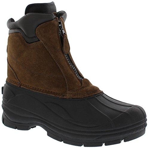 Khombu Men's Comfort Snow Boot, Brown, 11