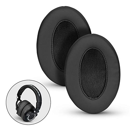 BRAINWAVZ Angled Ear Pads for ATH M50X, M50XBT, M40X, M30X, HyperX, SHURE, Turtle Beach, AKG, ATH,...