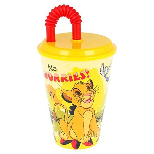 2646; Vaso con caña Disney Rey leon; capacidad 475 ml; producto de...