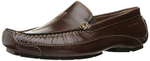 Rockport Men's Luxury Cruise Center Stitch Slip-On Loafer, Brown, 11.5 W US