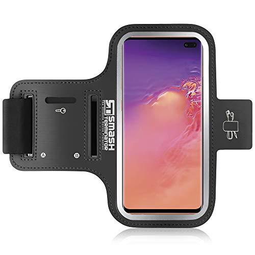 Brazalete Deportivo Samsung Galaxy S9 / S8 - Correa Ajustable Extralarga, Portacables para Llave / Auricular y Bolsillo Para Tarjeta - también Compatible con S7, S6, S6 Edge, S5 y S4