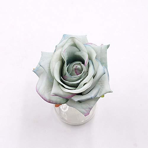 4 ramos de rosas artificiales de 10 cm realistas para manualidades, caja de regalo para álbumes de recortes, flores falsas para decoraciones de boda