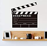 Wall Stickers Decals Movie Clapboard Props Action Filming Vinyl Wall Sticker Art Decal Removable Home Decor Mural 57X55cm