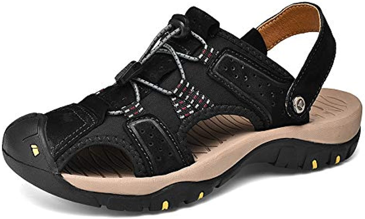 Men's Leather Sandals; Sports Outdoor Sandals Slippers; Men's Beach Slippers Fisherman's Breathable Summer Casual shoes, Non-Slip Beach shoes