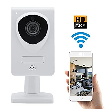 WiFi IP Wireless Security Camera 720P Home Surveillance Camera System Great For Video Monitor Nanny/Baby/Dog/Elder with Two Way Audio and Night Vision Motion Detector
