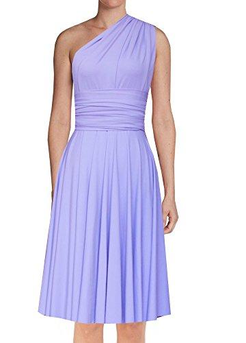 EK Infinity Short Dress Bridesmaid Convertible Gown Multi wrap Plus Size Prom Skirt Knee Length Transformer wear- lavender-4x-5x