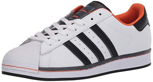 adidas Originals Superstar Shoes, Zapatillas Hombre, Blanco Negro Naranja, 36 1/3 EU