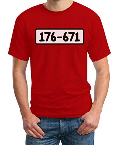 Panzerknacker Shirt Kostüm Karneval Fasching T-Shirt Medium Rot