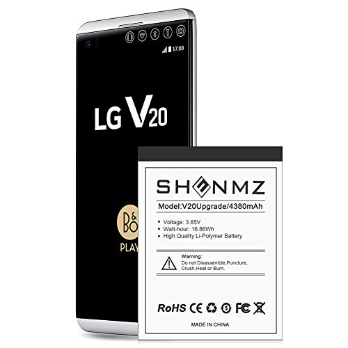 LG V20 Battery,[Upgraded] 4380mAh BL-44E1F Li-Polymer Replacement Battery for LG V20 BL-44E1F H910 H918 LS997 US996 VS995/V20 BL-44E1F [12 Month Warranty]
