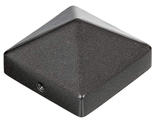 GAH-Alberts 217082 Pfostenkappe für Holzpfosten | hohe Form | Aluminiumguss | anthrazit-metalic | 70 x 70 mm