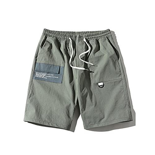 OMRIHAN - Pantalones cortos de trabajo para hombre, pantalones cortos de verano, pantalones cortos de entrenamiento, pantalones cortos de gimnasio para hombre con bolsillos