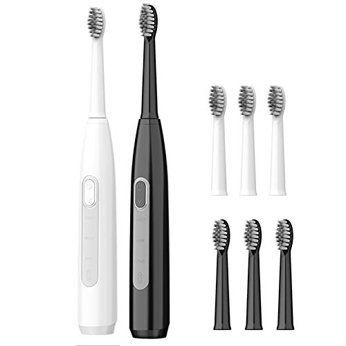 GZP 2PCS Electric Toothbrush, Sonic Electric Rechargeable Toothbrush for Adults with 3 Modes 2 Hours Fast Charge And Smart Timer, Whitening Sonic Toothbrush,16 brush heads