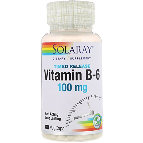 Vitamina B6 60 cápsulas de 100 mg de Solaray