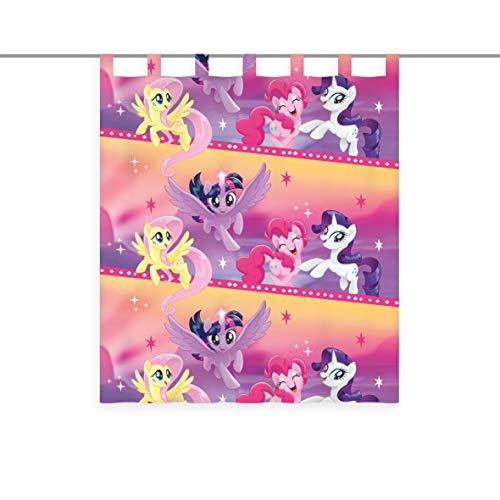 Herding Gordijn My little Pony, afmeting 140 x 160 cm incl. 10 cm lus, transparant, polyester, kleurrijk, één maat