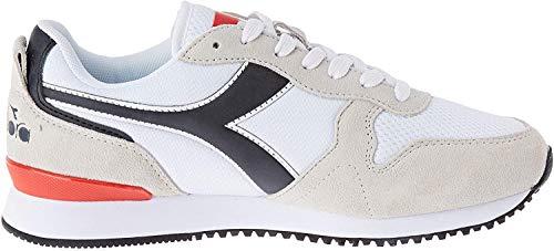 Diadora Olympia, Zapatillas de Deporte para Hombre, Blanco (White/Black C0351), 47 EU