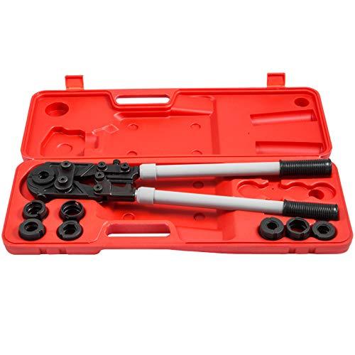 VEVOR Presszange U/V-Kontur Rohrpresszange für PEX-/Kupfer-/Verbundrohr U16-32 V15-28