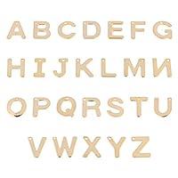 HEALLILY 100ピースレターチャーム304ステンレス鋼混合アルファベットA-Zチャームペンダント