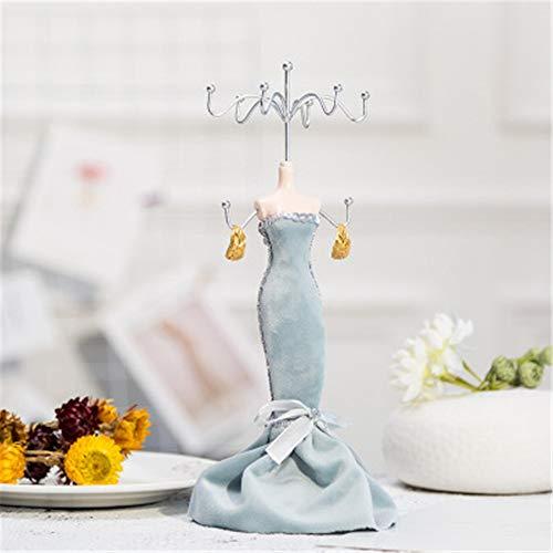 Phosphor Prinzessinnen-Modell-Gestell aus Schmiedeeisen für Schmuck, Ohrringe, Halsketten, Schaufenster, Dekoration, Requisiten
