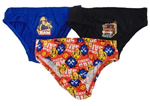 (3 Stück) - Jungen Feuerwehrmann Sam 100% Baumwolle Slips Pants Unterwäsche[3-4 Jahre][Mehr]