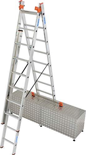 KRAUSE 129789 Spro.Leiter Treppe 3teil 3x12
