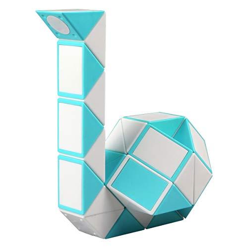 KidsPark Zauberwürfel Snake Cube, Magische Schlange Würfel 36 Parts Magic Puzzle Snake Spiele, Weiß Blau