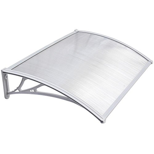 Yaheetech Outdoor Cover Door Window Garden Canopy Patio Porch Awning Shelter - Multiple Size and Colour, White, 120 X76cm