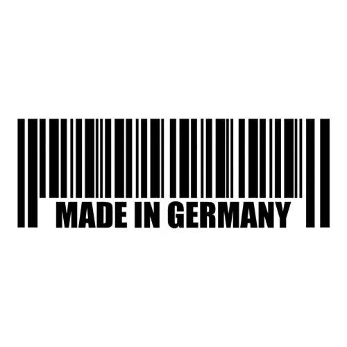 WYJW 20cm * 7cm MADE IN DUITSLAND Creatieve Barcode Vinyl Decal Auto Sticker Zwart/Zilver, Zilveren Auto Sticker Zwart