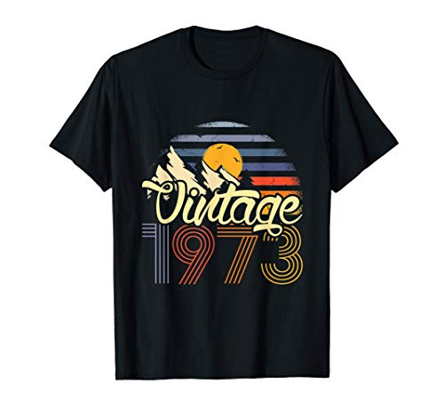 48 Cumpleaños 48 Años Hombre Mujer Vintage 1973 Camiseta