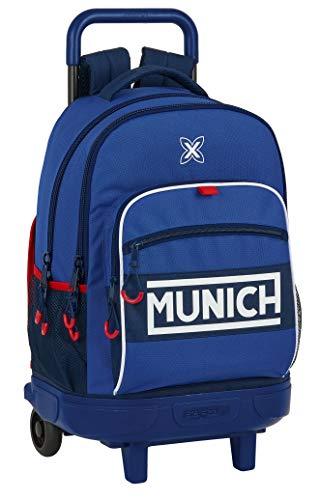 Safta Mochila Escolar con Carro Incluido y Espalda Acolchada de Munich Retro, 330x220x450mm