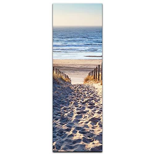 Bilderdepot24 Keilrahmenbild - Schöner Weg zum Strand III - 40x120 cm einteilig - Hochkant - fertig gerahmt - Kunstdruck für die Wand - Sandstrand der Ostsee