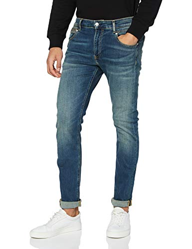 Calvin Klein Ckj 058 Slim Taper Pantaloni, Bb032/Dark Blue Seamed Pkt Zip, 36W /...