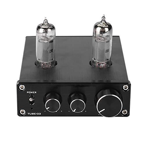 Topiky Röhrenverstärker Vorverstärker, Anti-Interferenz Röhren Kopfhörer Vorverstärker HiFi Heavy Bass Stereo Audio Amp für Home Audio Player(EU Plug)