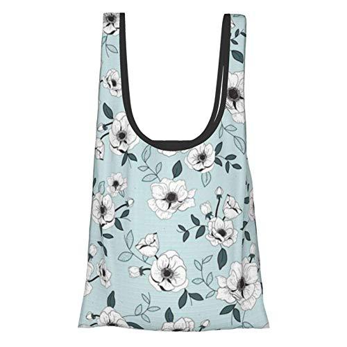 Lionel Philip Anemone Mint Einkaufstüten Einkaufstaschen Einkaufstaschen Wiederverwendbare faltbare umweltfreundliche wasserdichte