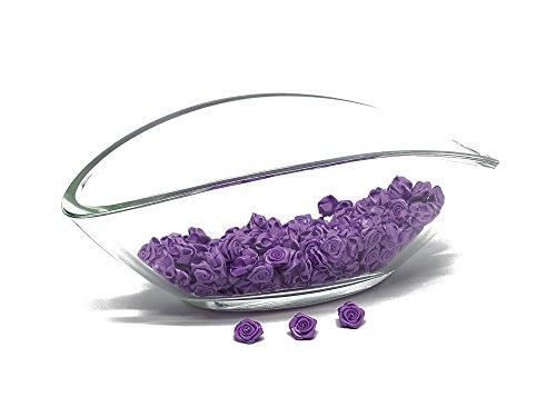 FlexiStore 100 x Rosas decorativas - flores 15mm - decoración de la mesa - Púrpura