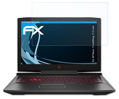 atFolix Schutzfolie kompatibel mit HP Omen 17-an034ng 17,3 inch Folie, ultraklare FX Bildschirmschutzfolie (2X)